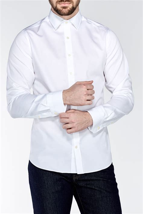 Košile PLAIN SATEEN FITTED TOWN white, 38 | GANT CZ