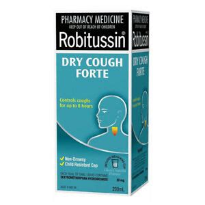 ROBITUSSIN DRY COUGH FORTE 200ML THROAT SOOTHING FORMULA