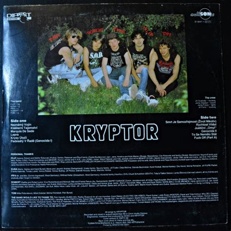 Kryptor ‎- Septical Anaesthesia 31 0047-1 311 LP Album