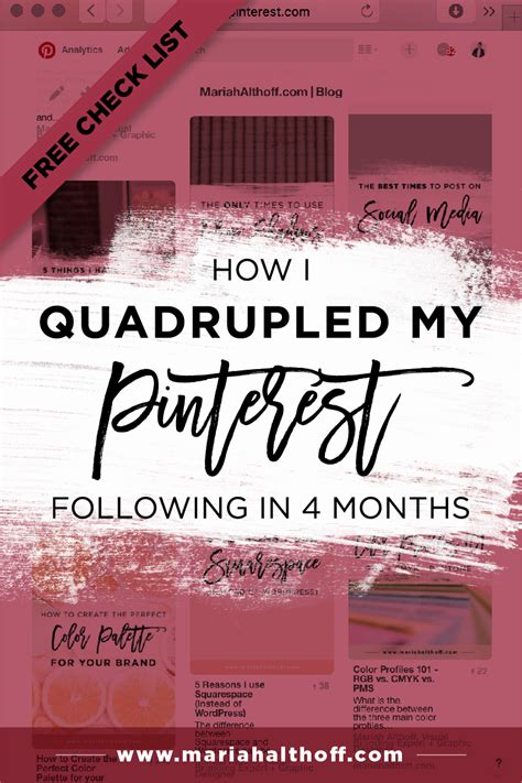 How I Quadrupled my Pinterest Following in 4 Months