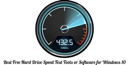 Best Top Free Hard Drive Speed Test Tools or Software for