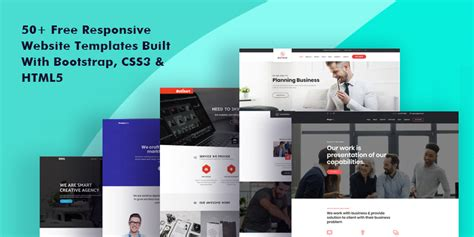 50+ Free Responsive Website Templates Built With Bootstrap