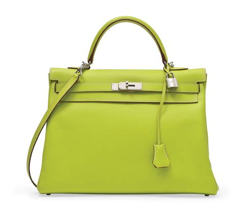 A KIWI AND LICHEN EPSOM LEATHER CANDY KELLY BAG, HERMÈS